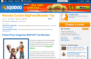Remote Control BigFoot Monster Toy